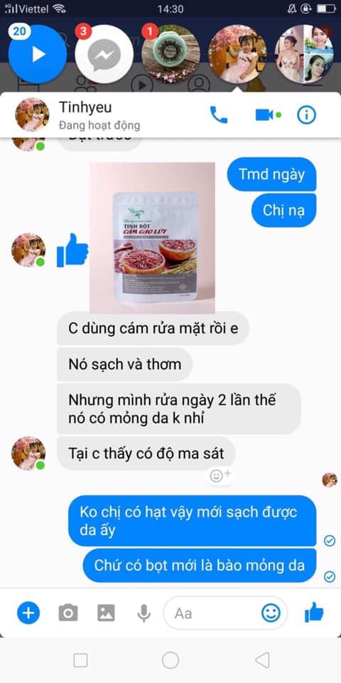 review công dụng làm đẹp của tinh bột cám gạo lứt TT