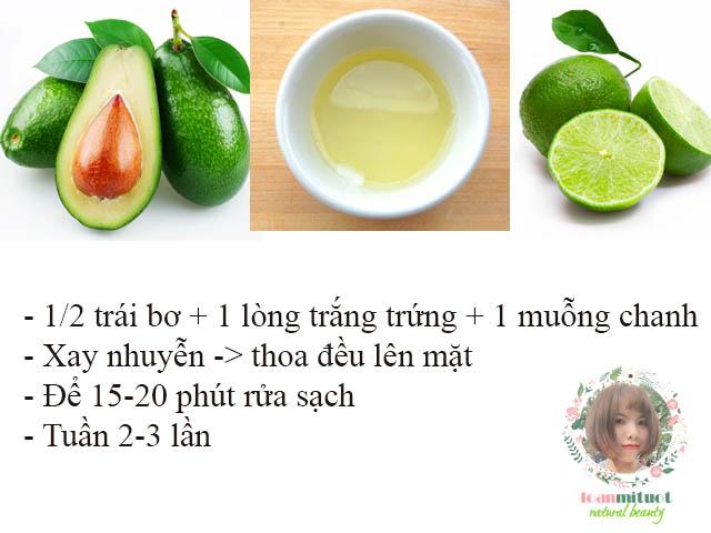 Cách làm mặt nạ bơ lòng trắng trứng và chanh để dưỡng da mặt, chống lão hóa