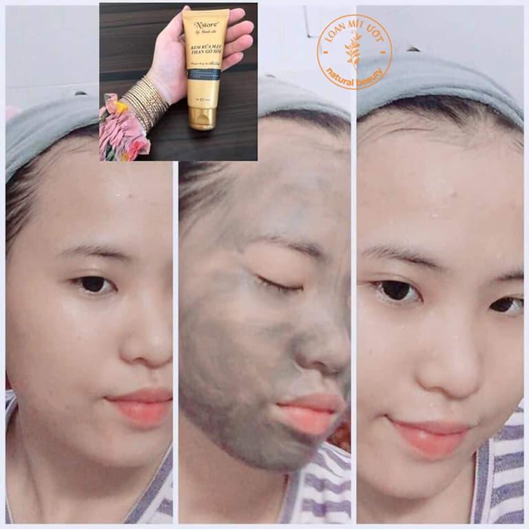 Cách sử dụng Kem Rửa Mặt Than Gỗ Sồi N'store By Thanh Nhi