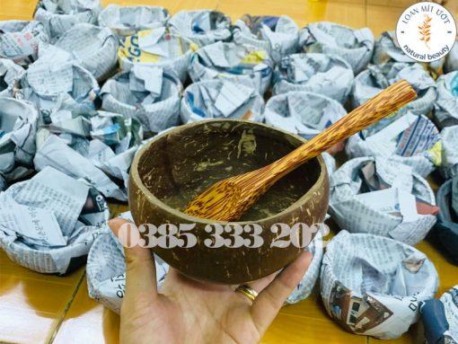 Gáo dừa - Quà tặng khi mua combo sản phẩm cà phê dừa non với đơn trên 250k