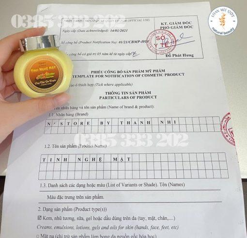 Phiếu công bố sản phẩm Tinh nghệ mật N'store by Thanh Nhi